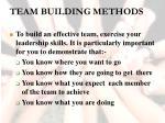team building methods