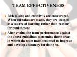 team effectiveness44