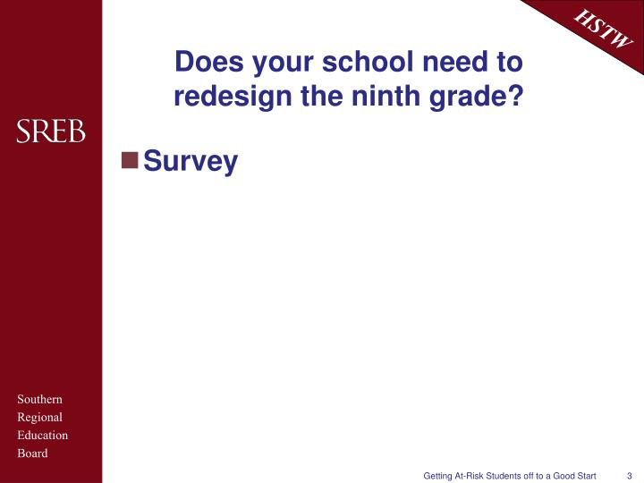 Does your school need to redesign the ninth grade