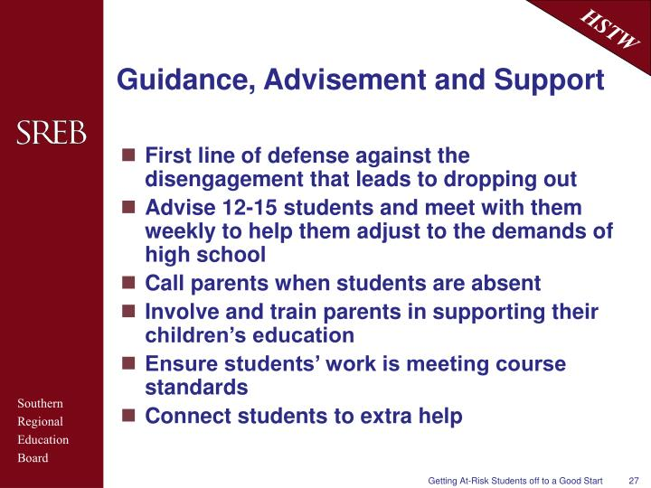 Guidance, Advisement and Support