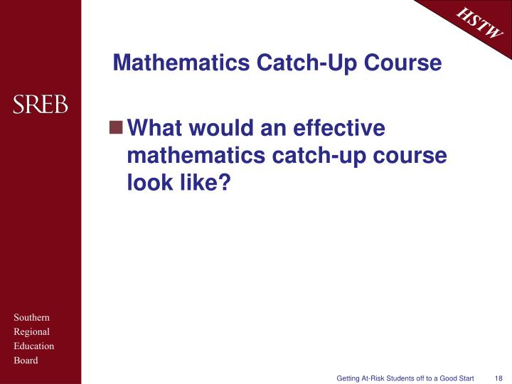 Mathematics Catch-Up Course
