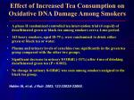 effect of increased tea consumption on oxidative dna damage among smokers