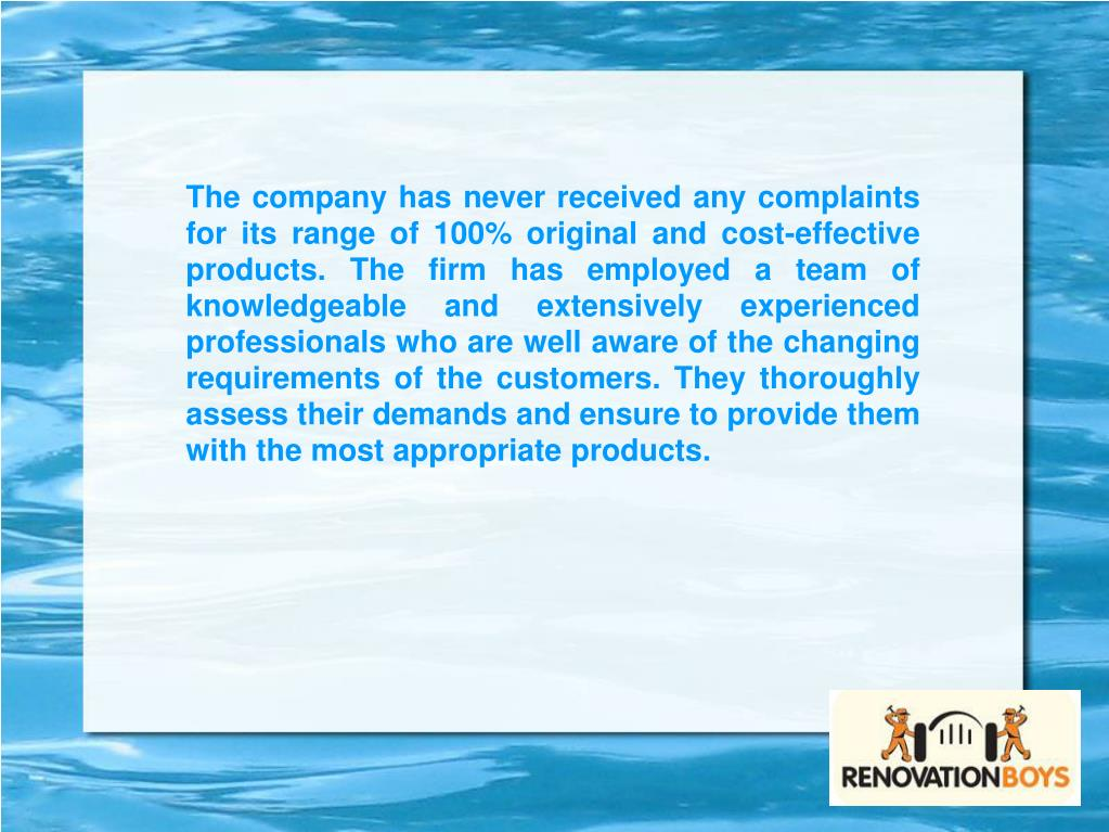 The company has never received any complaints for its range of 100% original and cost-effective products. The firm has employed a team of knowledgeable and extensively experienced professionals who are well aware of the changing requirements of the customers. They thoroughly assess their demands and ensure to provide them with the most appropriate products.