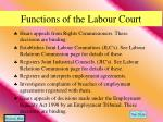 functions of the labour court