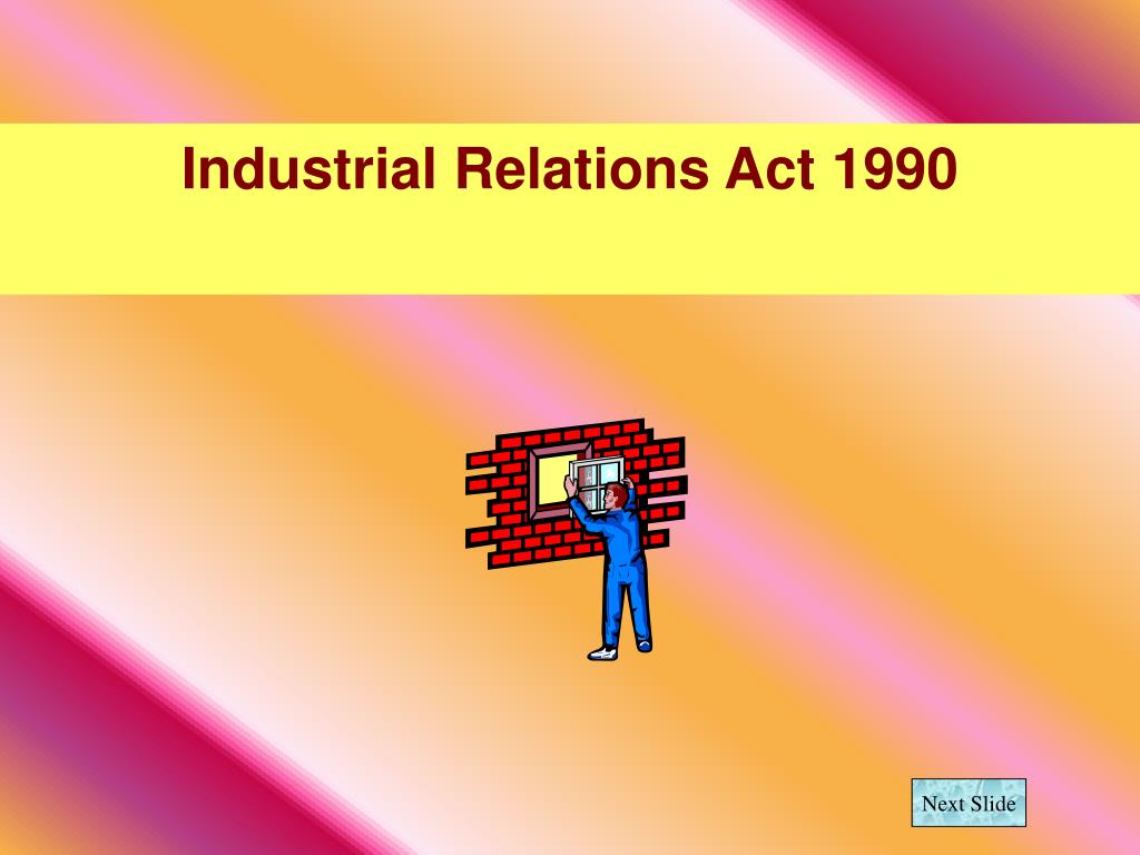 industrial relations act 1990 l.