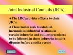 joint industrial councils jic s