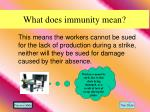 what does immunity mean