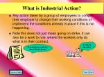 what is industrial action
