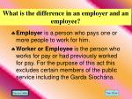 what is the difference in an employer and an employee