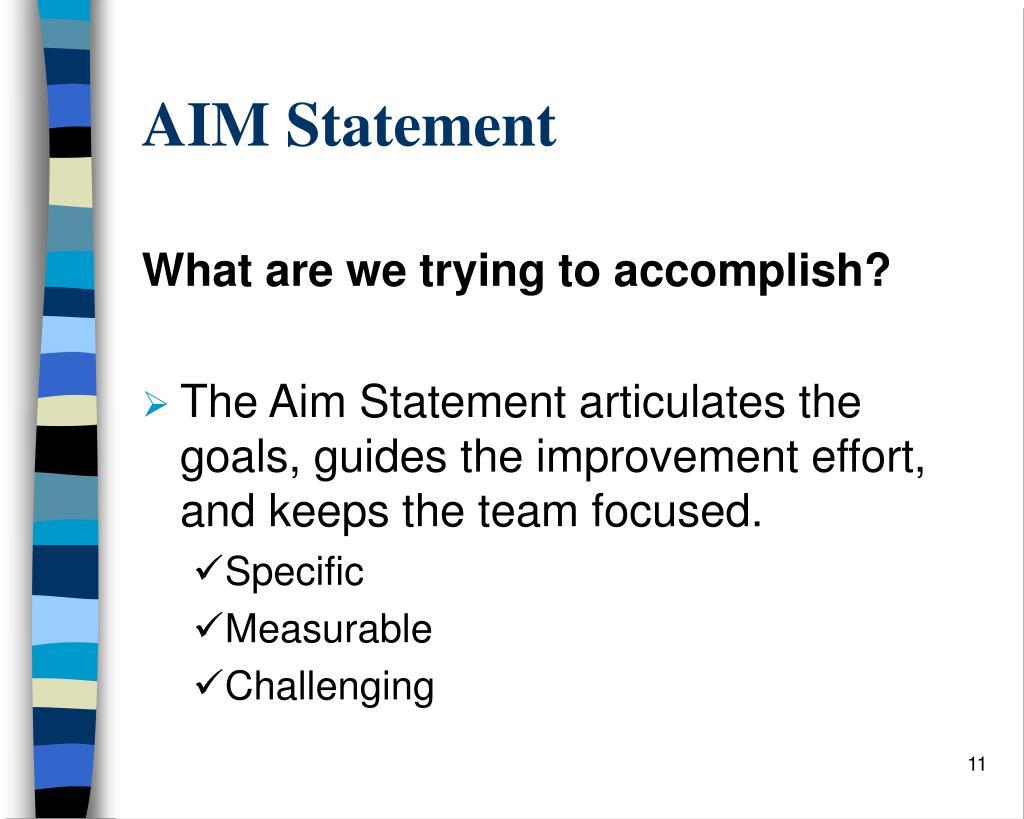 AIM Statement