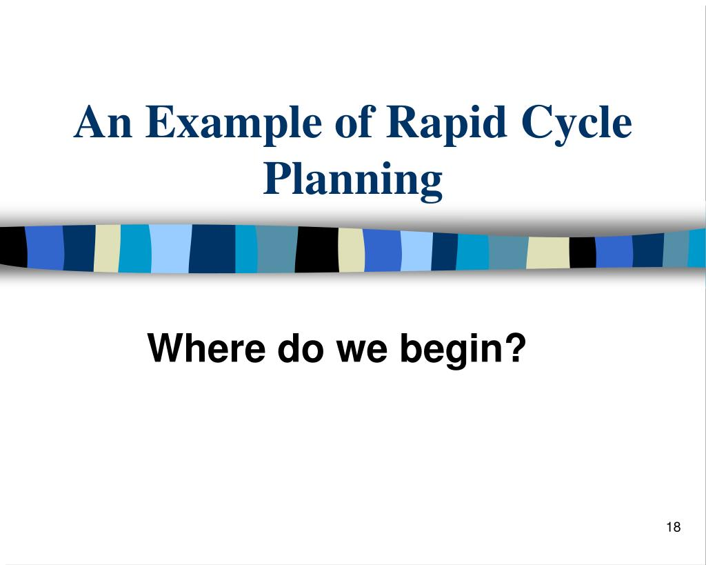 An Example of Rapid Cycle Planning