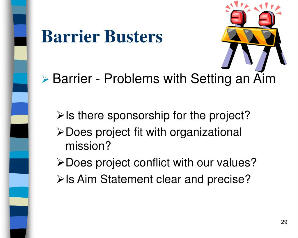 Barrier Busters