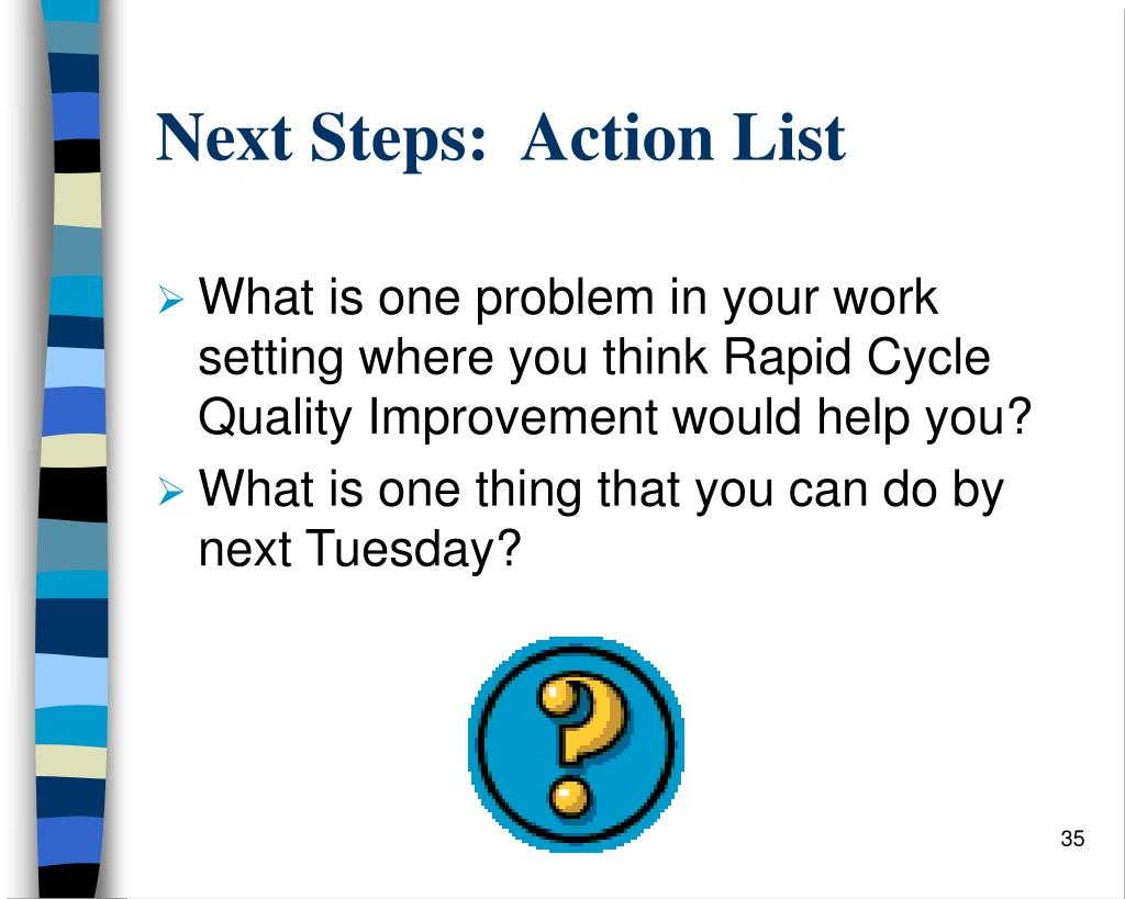 Next Steps:  Action List