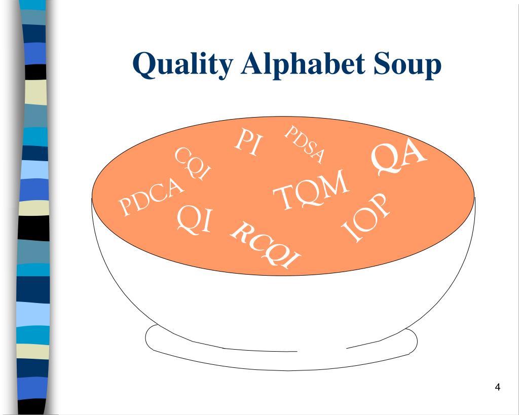 Quality Alphabet Soup