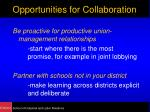 opportunities for collaboration11