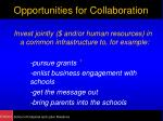 opportunities for collaboration14