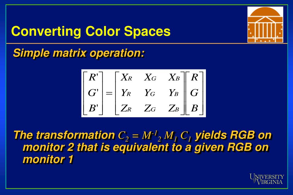Converting Color Spaces