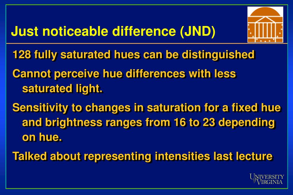 Just noticeable difference (JND)