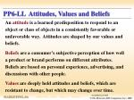 pp6 ll attitudes values and beliefs