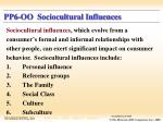 pp6 oo sociocultural influences