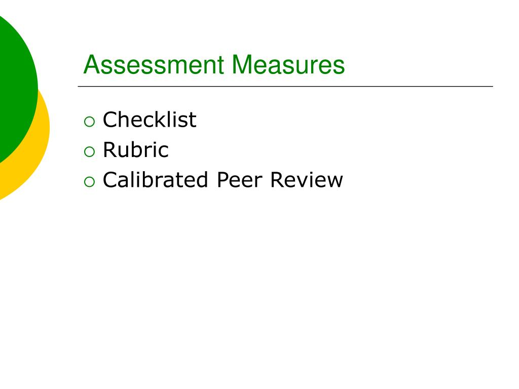 Assessment Measures