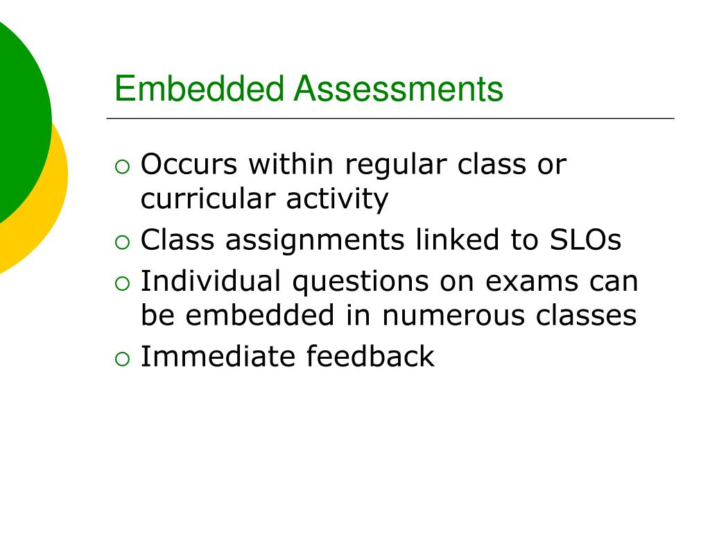 Embedded Assessments