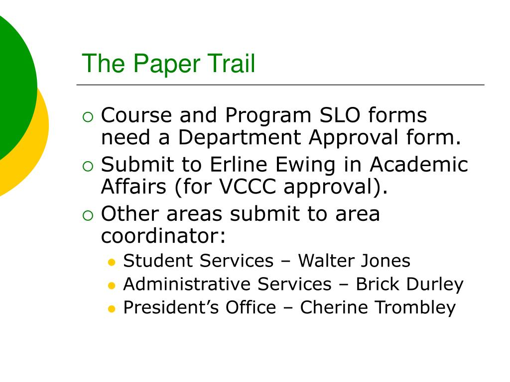 The Paper Trail