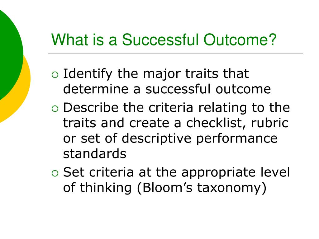 What is a Successful Outcome?