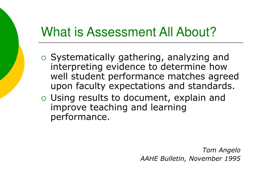 What is Assessment All About?