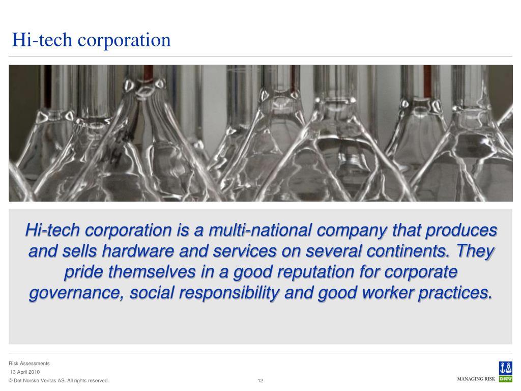 Hi-tech corporation