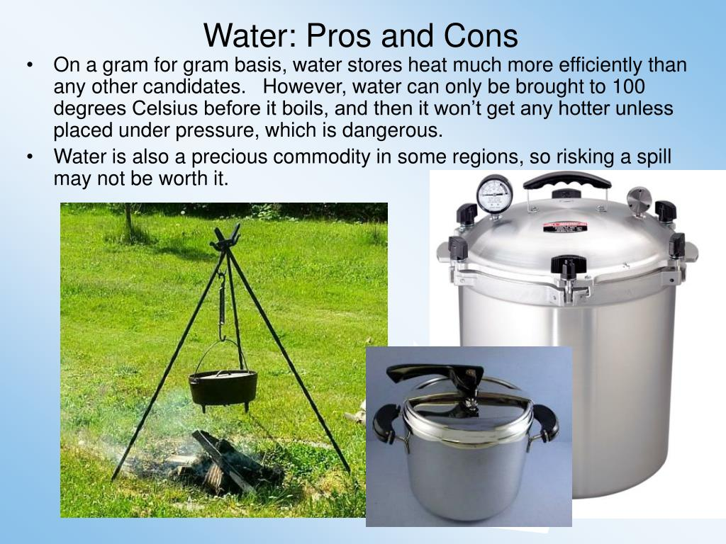 Water: Pros and Cons