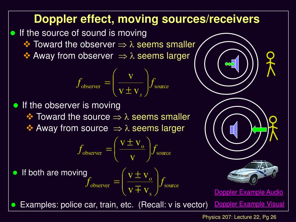 Doppler effect, moving sources/receivers