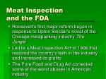 meat inspection and the fda