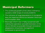 municipal reformers