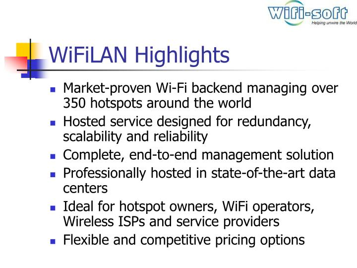 Wifilan highlights