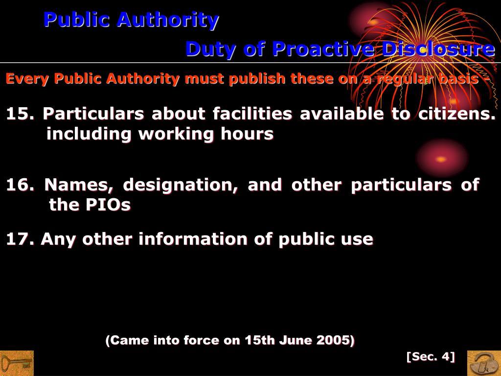 Public Authority