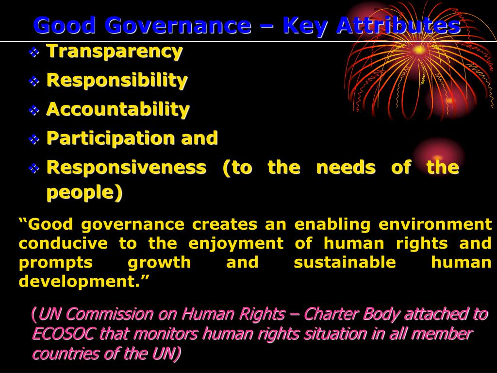 Good Governance – Key Attributes