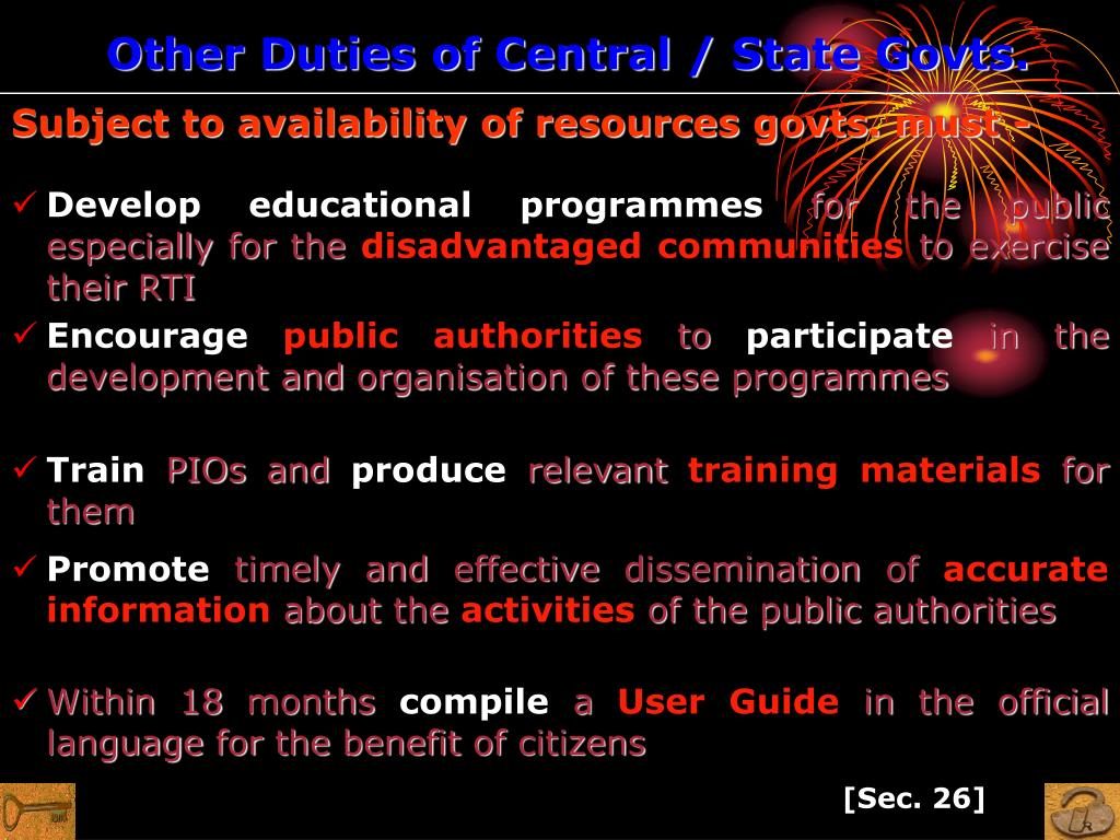 Other Duties of Central / State Govts.
