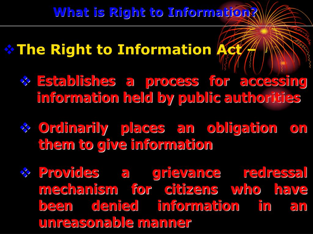 What is Right to Information?