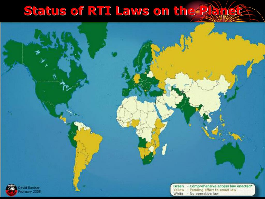 Status of RTI Laws on the Planet