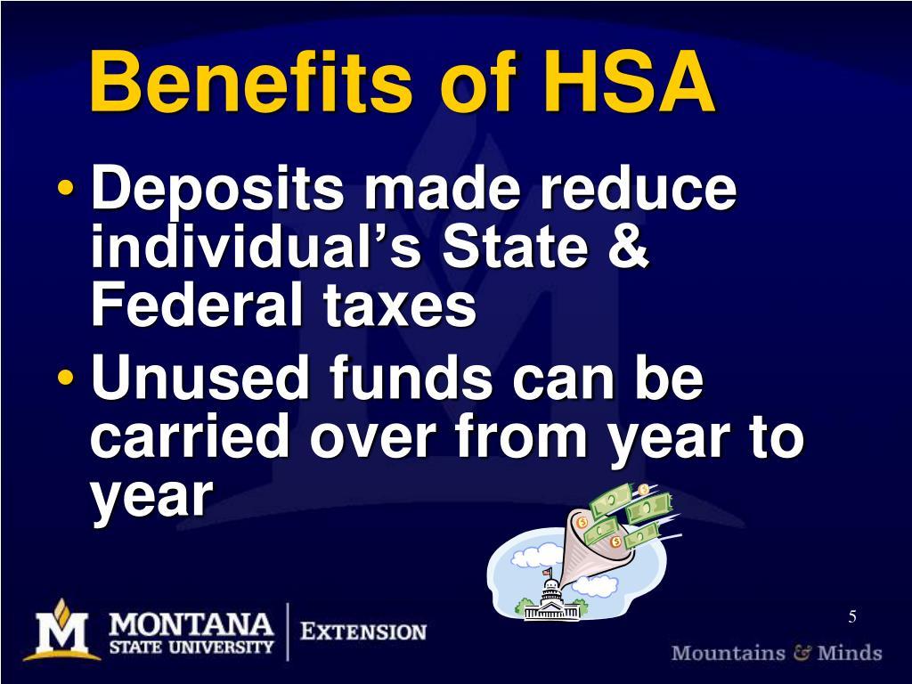 Benefits of HSA
