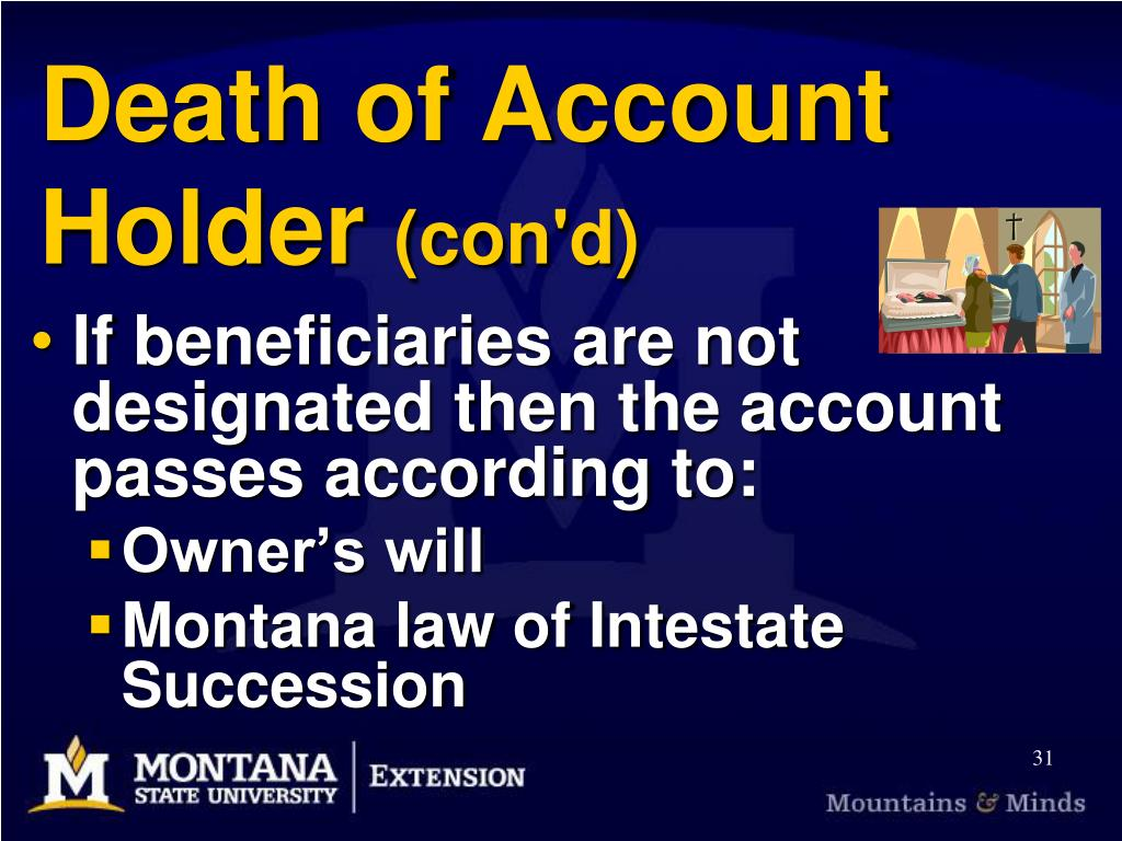 Death of Account Holder
