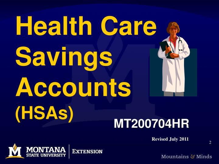 Health care savings accounts hsas2