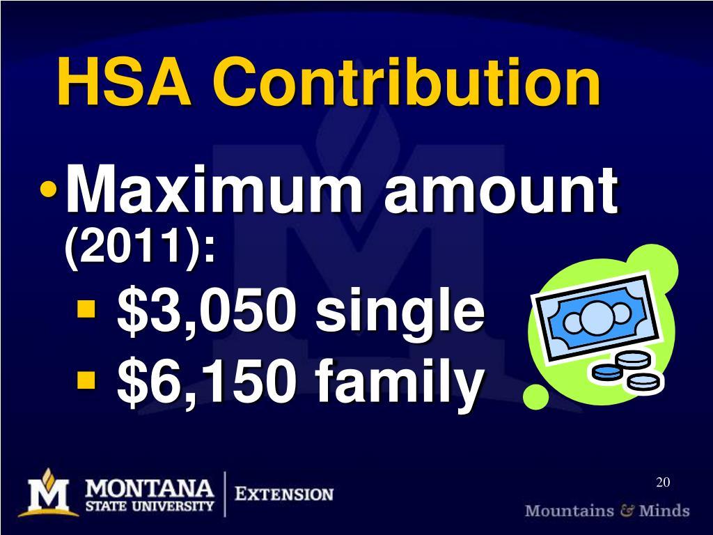 HSA Contribution