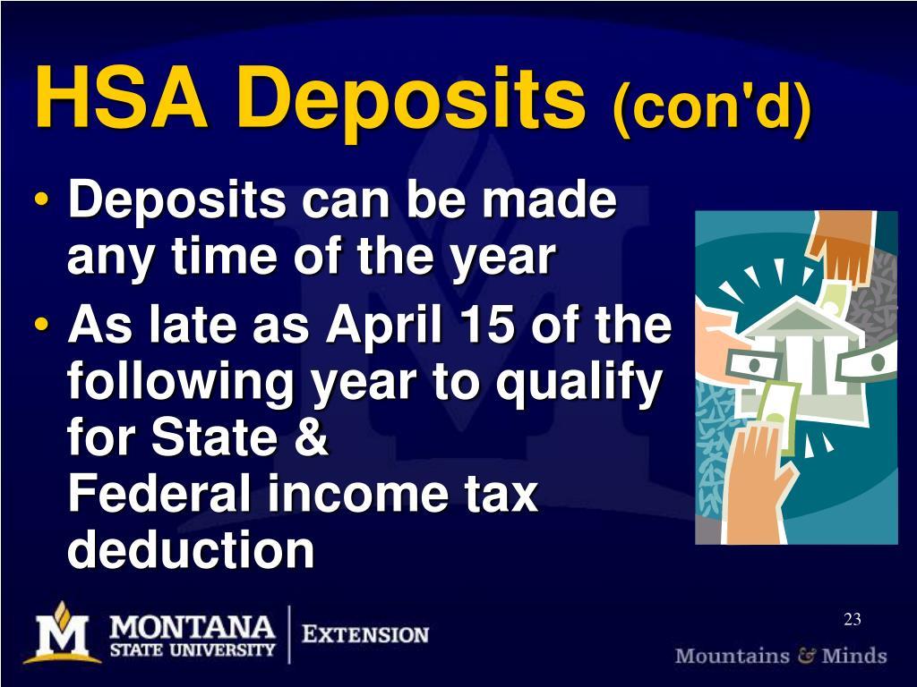 HSA Deposits