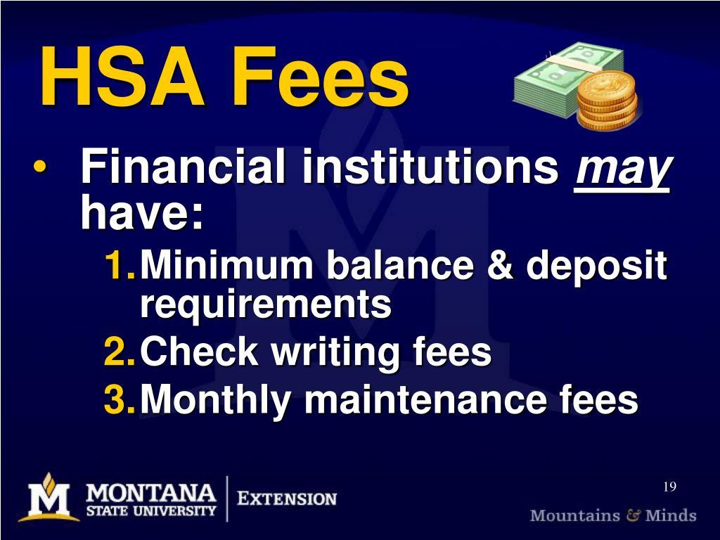 HSA Fees