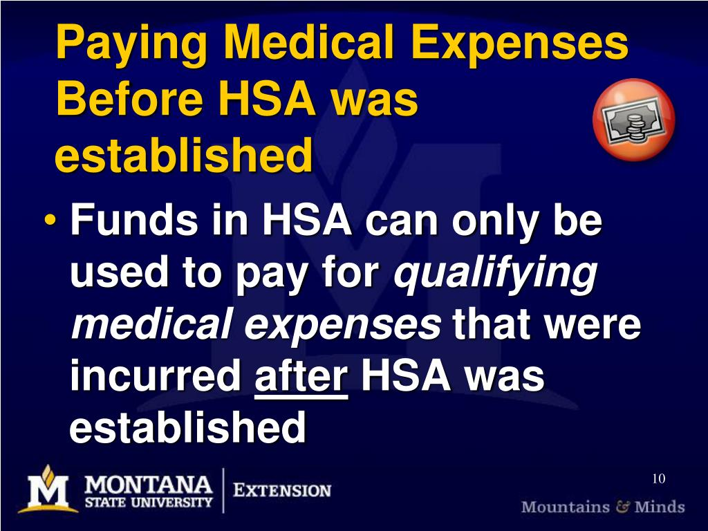 Paying Medical Expenses Before HSA was established