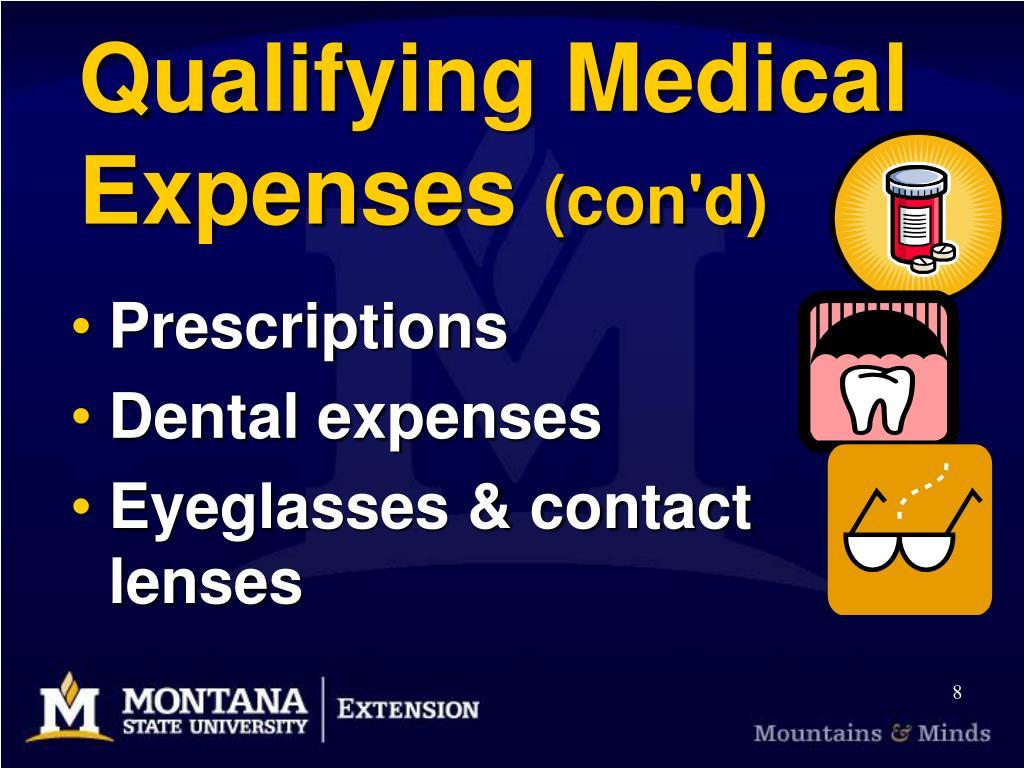 Qualifying Medical Expenses