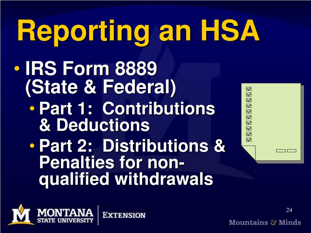 Reporting an HSA