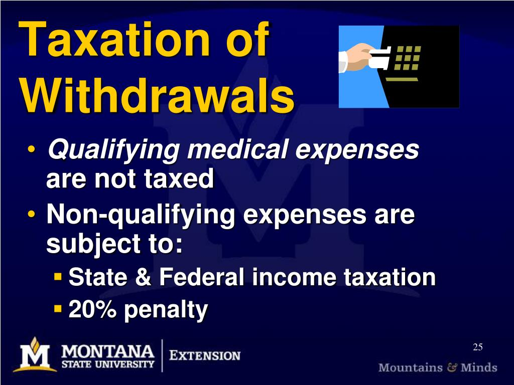 Taxation of Withdrawals